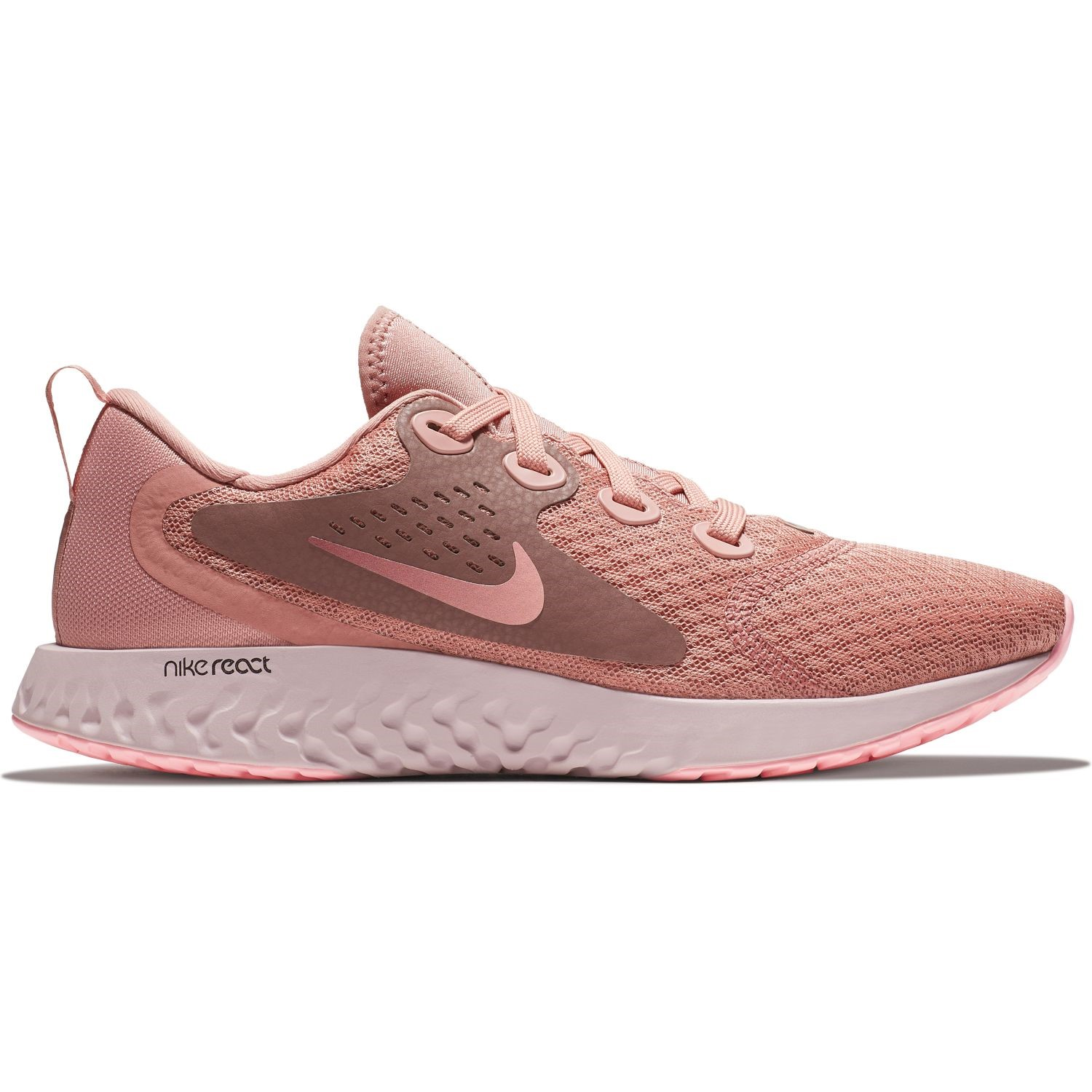 super popular 0b634 6da49 Nike Legend React - Womens Running Shoes - Rust Pink Smokey Mauve Sail