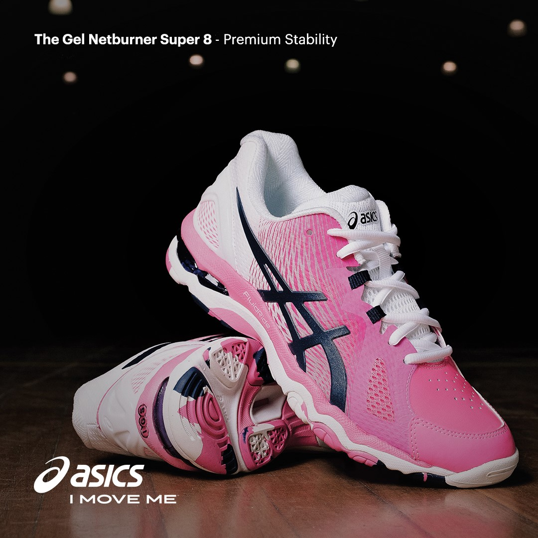 Asics Gel Netburner Super 8 - Womens Netball Shoes - Hot Pink Indigo Blue  634b62d8c929