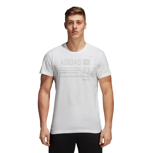 Adidas ID Lineage Mens Casual T-Shirt - White