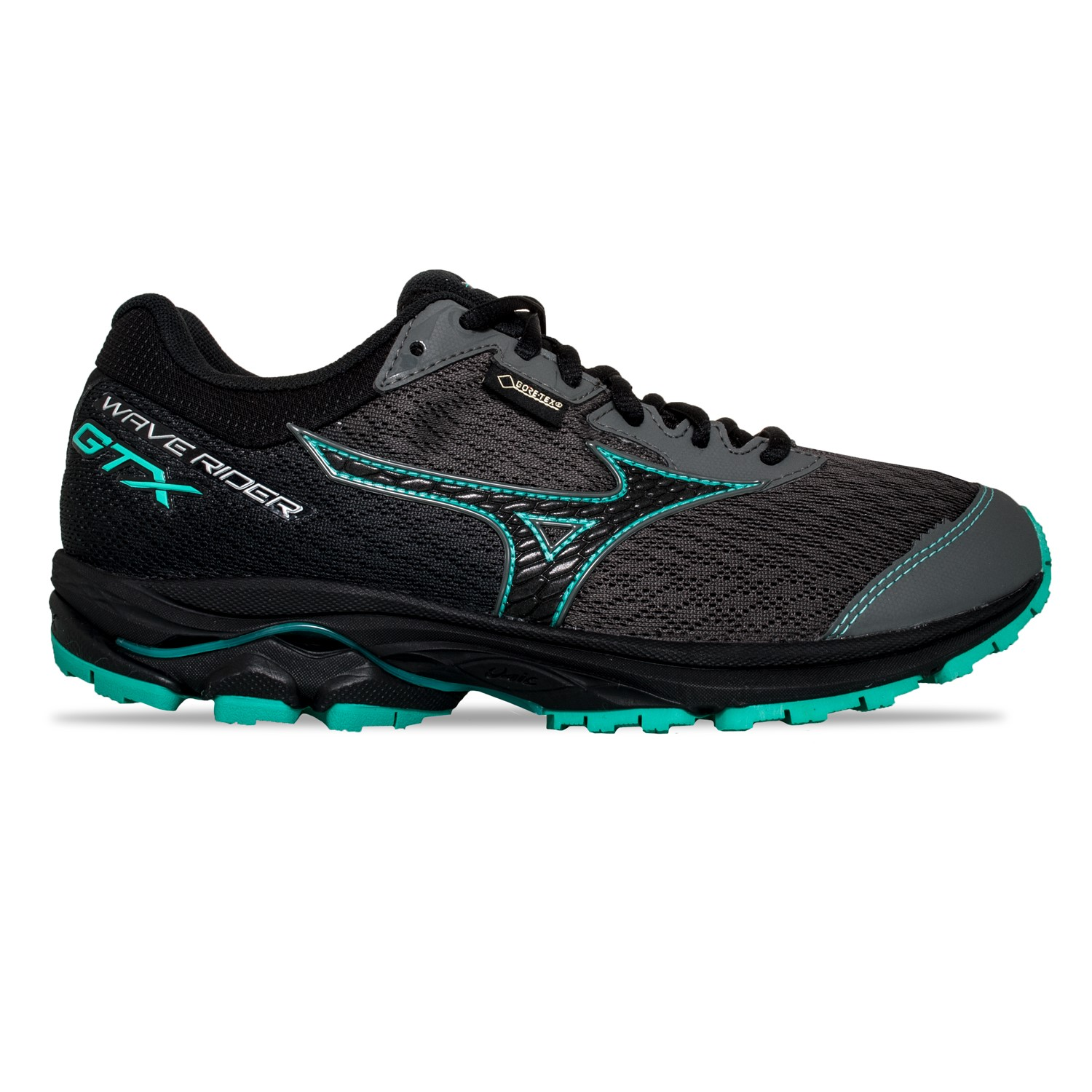 check out f6469 7f123 Mizuno Wave Rider 22 GTX - Womens Trail Running Shoes -  Gunmetal Black Billiard