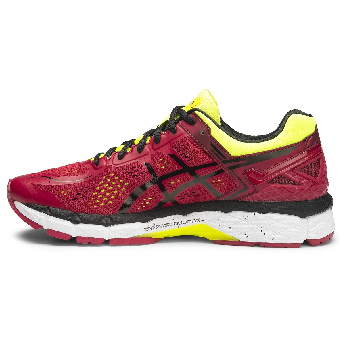 asics gel kayano 22 mens running shoes red pepper black flash yellow online sportitude. Black Bedroom Furniture Sets. Home Design Ideas