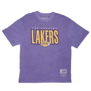 Mitchell & Ness Los Angeles Lakers Retro Blur NBA Mens Basketball T-Shirt