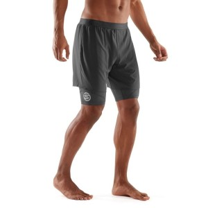 Skins DNAmic Superpose Mens Compression Half Tights With Shorts + Free Gym Bag