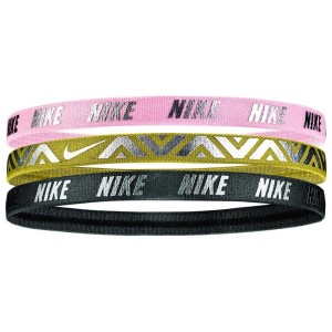 Nike Printed Metallic Sports Headbands - Assorted 3 Pack