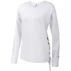 Running Bare Lace Up Crew Womens Sweatshirt