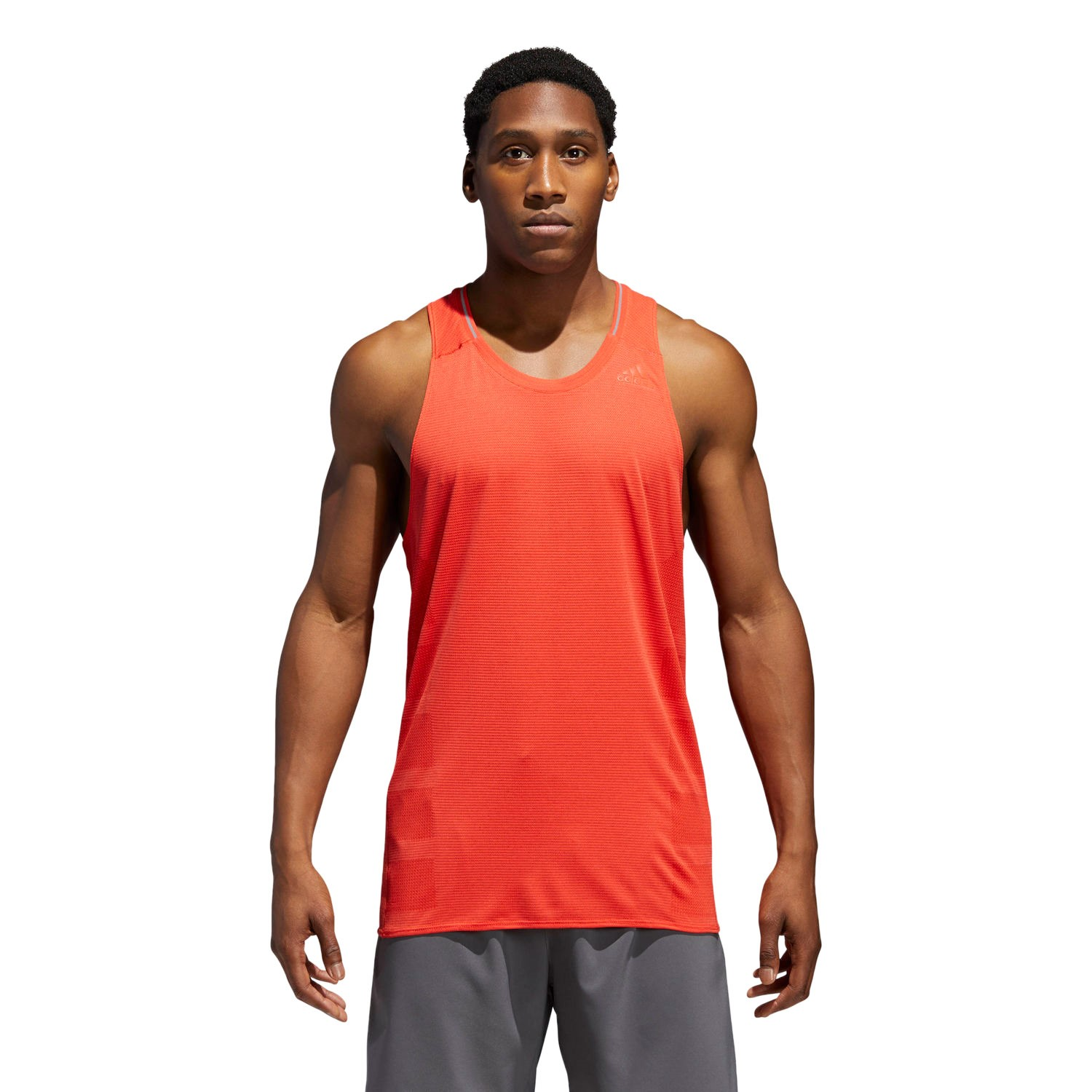 adidas Supernova Sleeveless Mens Running Top Orange