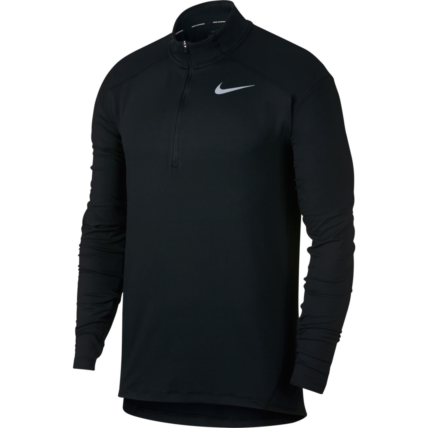 978dd44550cea Nike Dri-Fit Element Mens Long Sleeve Half-Zip Running Top - Black ...
