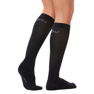 2XU Womens Compression Run Socks - Black