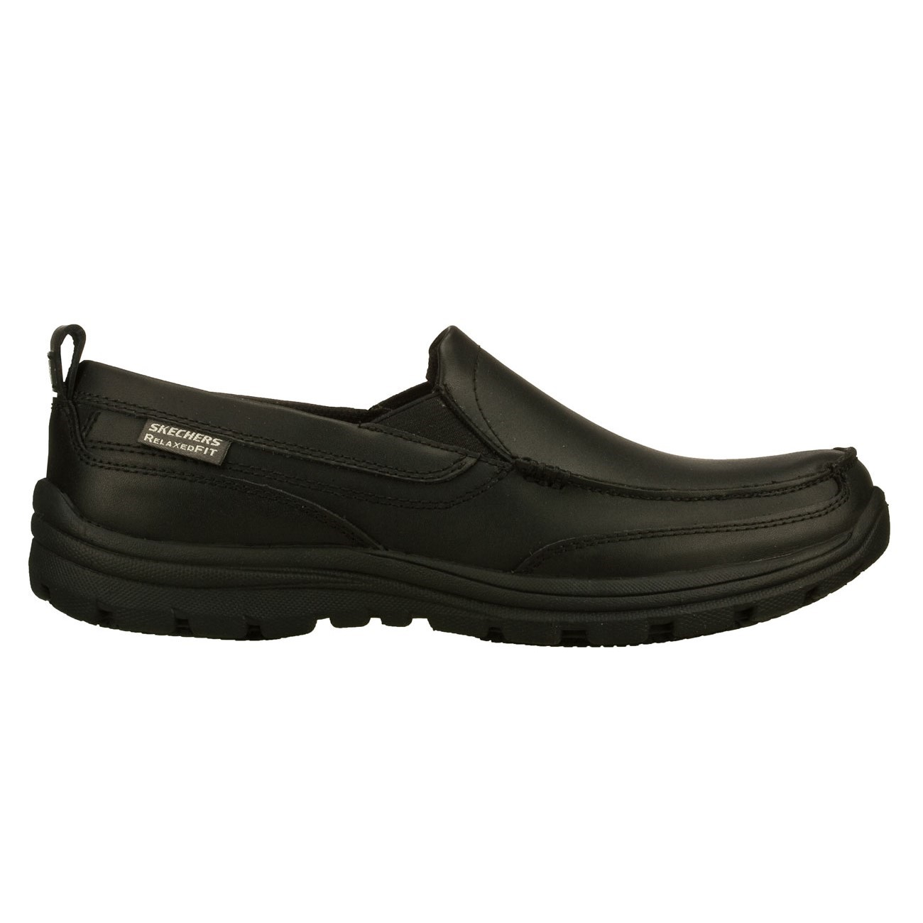 skechers hobbes mens slip resistant work shoes black