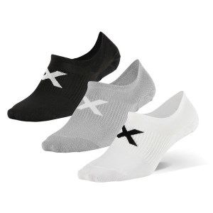 2XU Unisex Invisible Sock 3-Pack