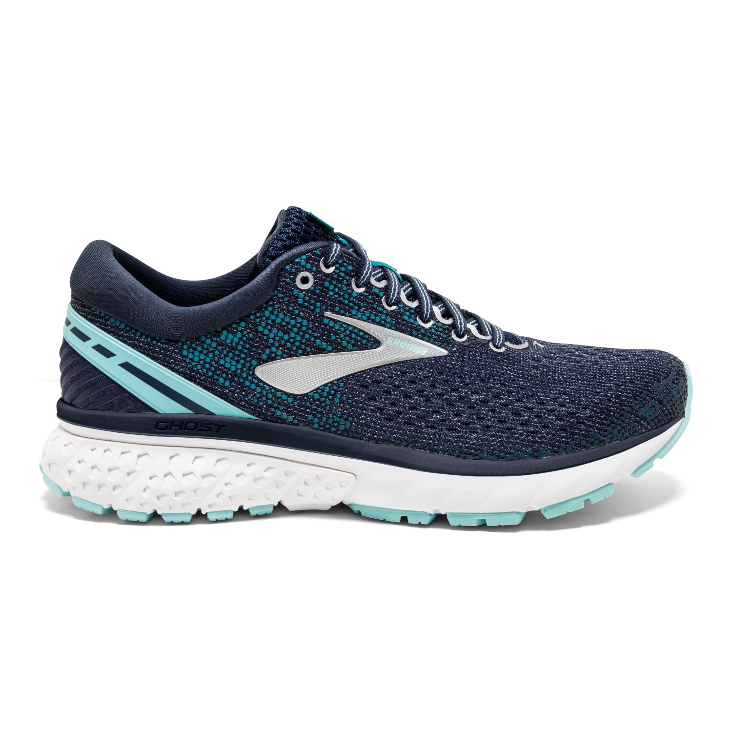 277383cf7a4 Brooks Ghost 11 - Womens Running Shoes - Navy Grey Blue