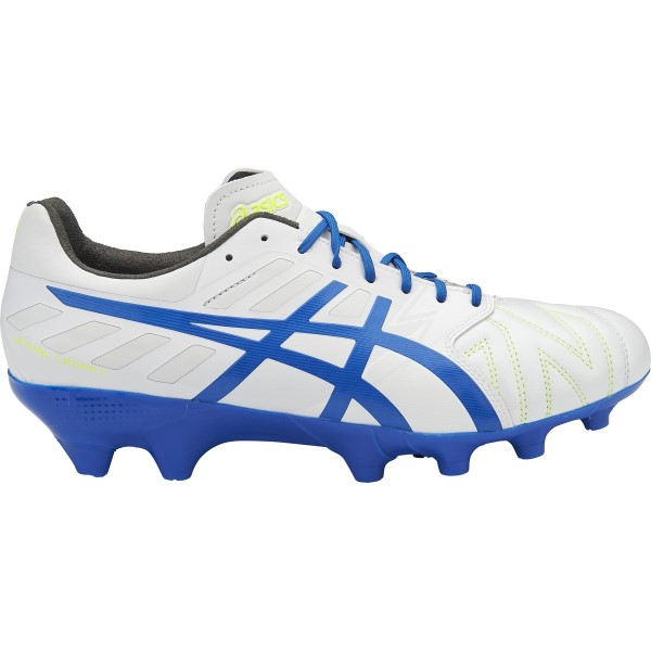 Asics Lethal Legacy IT - Mens Football Boots - White/Imperial/Safety Yellow