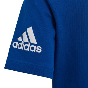 Adidas Little Kids Boys Cotton T-Shirt - Collegiate Royal/White