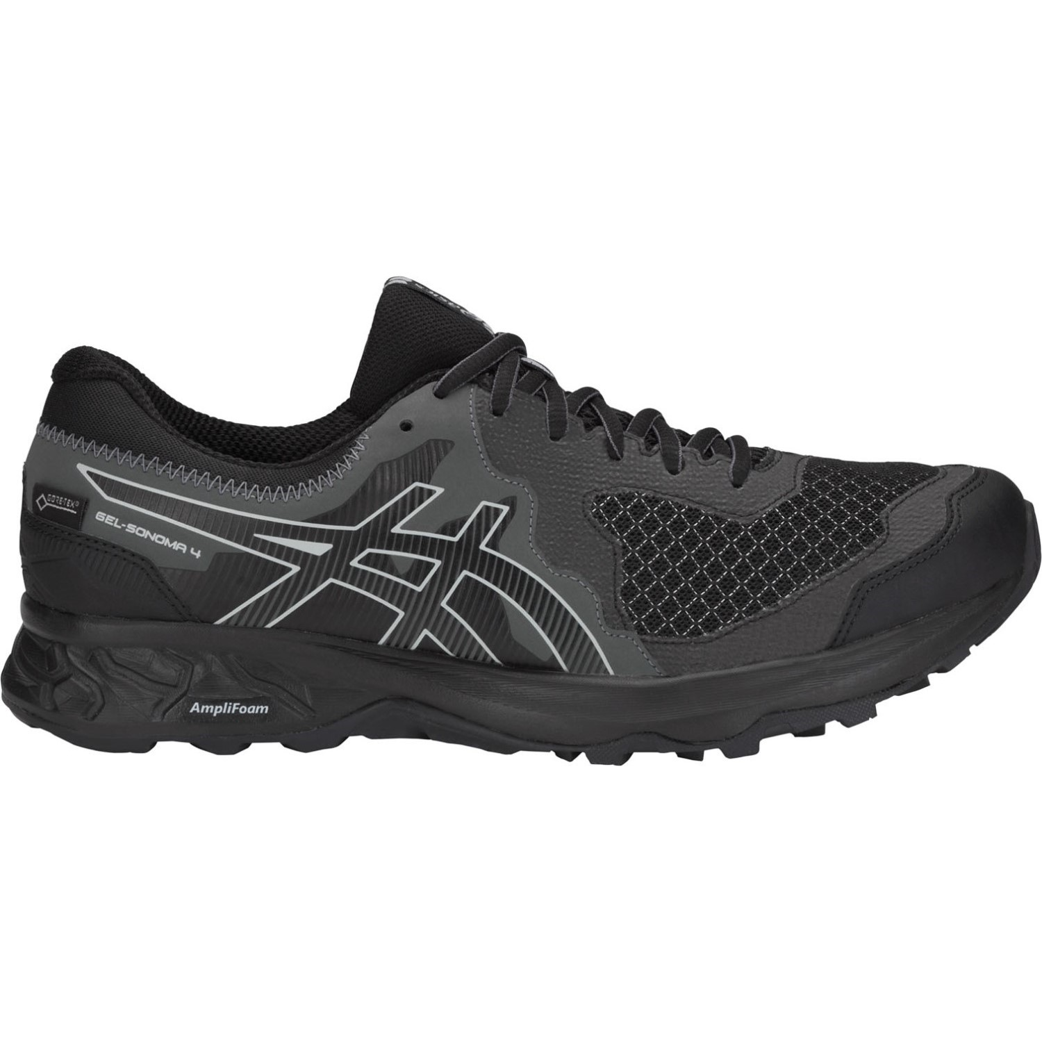 new style 31612 f6a13 Asics Gel Sonoma 4 GTX - Mens Trail Running Shoes - Black Stone Grey