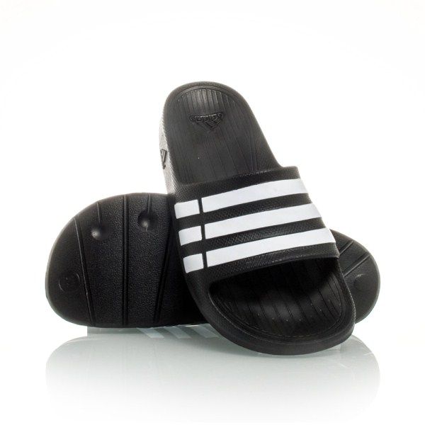 a1915051026e9a Adidas Duramo Slide K - Kids Boys Slides - Black White