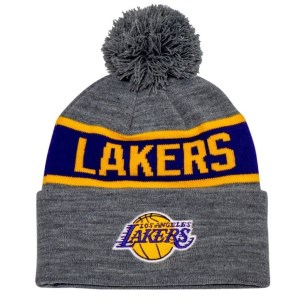 Mitchell & Ness Los Angeles Lakers Team Tone Knit Basketball Beanie