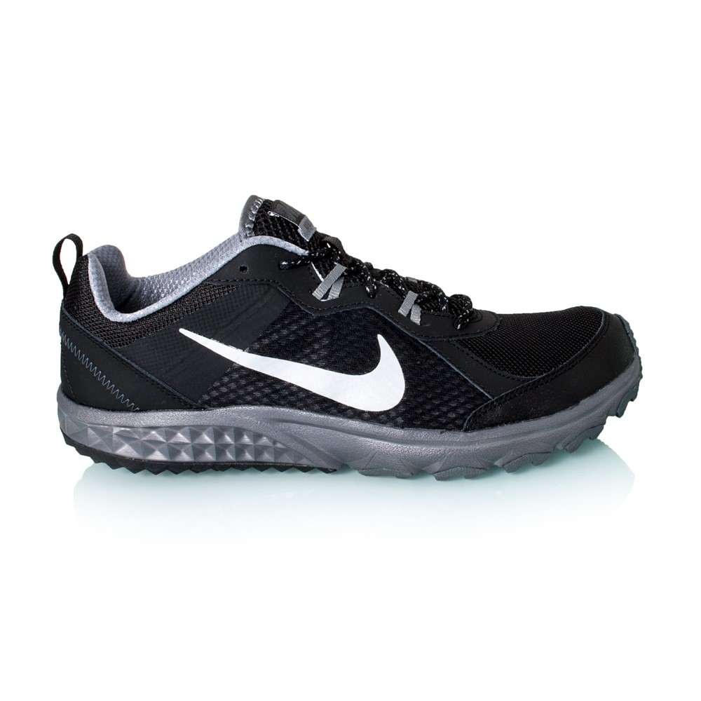 4a64a6af649 Nike Wild Trail - Mens Trail Running Shoes - Black Metallic Platinum Cool  Grey