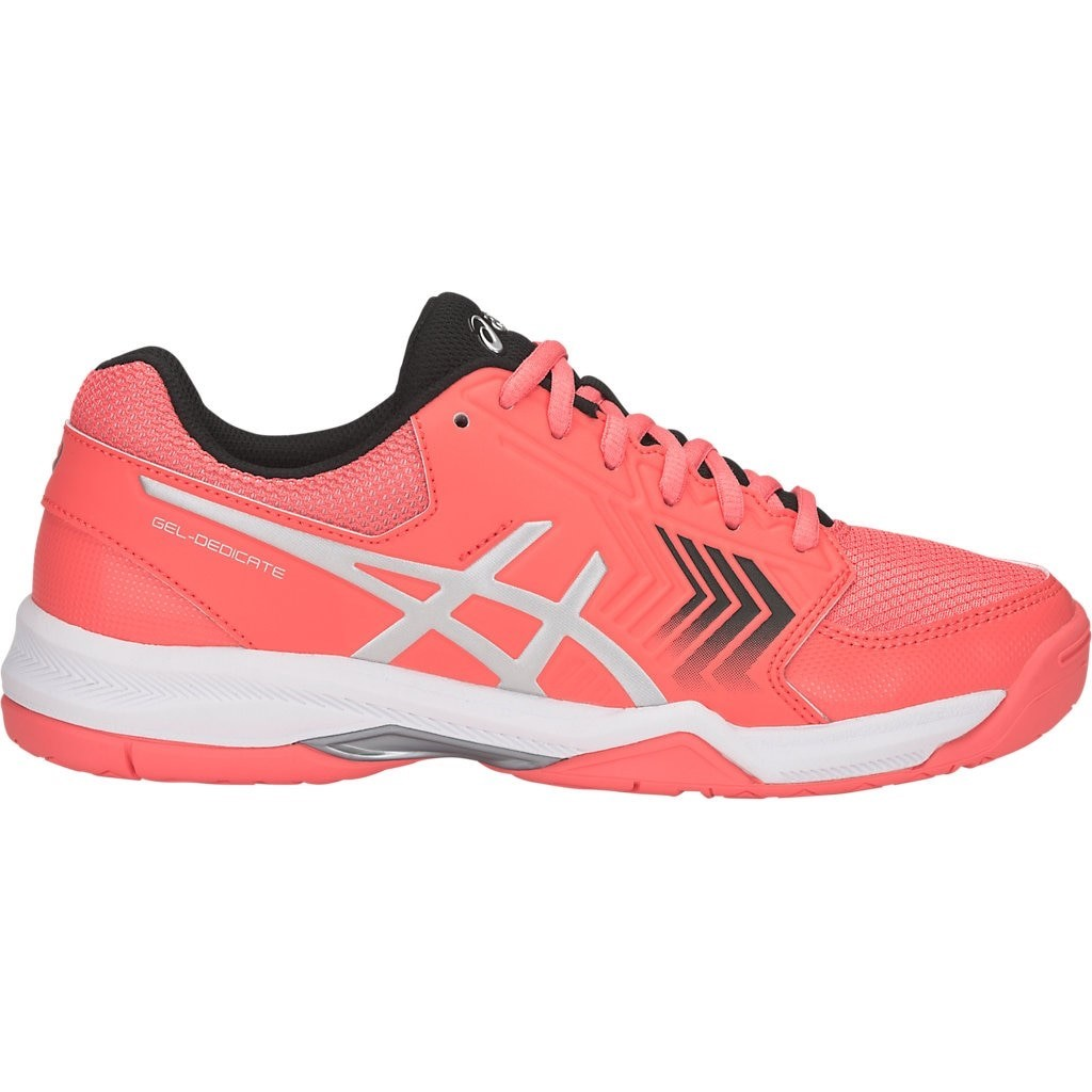 competitive price e9c42 d1f9c Asics Gel Dedicate 5 - Womens Tennis Shoes - Papaya Silver