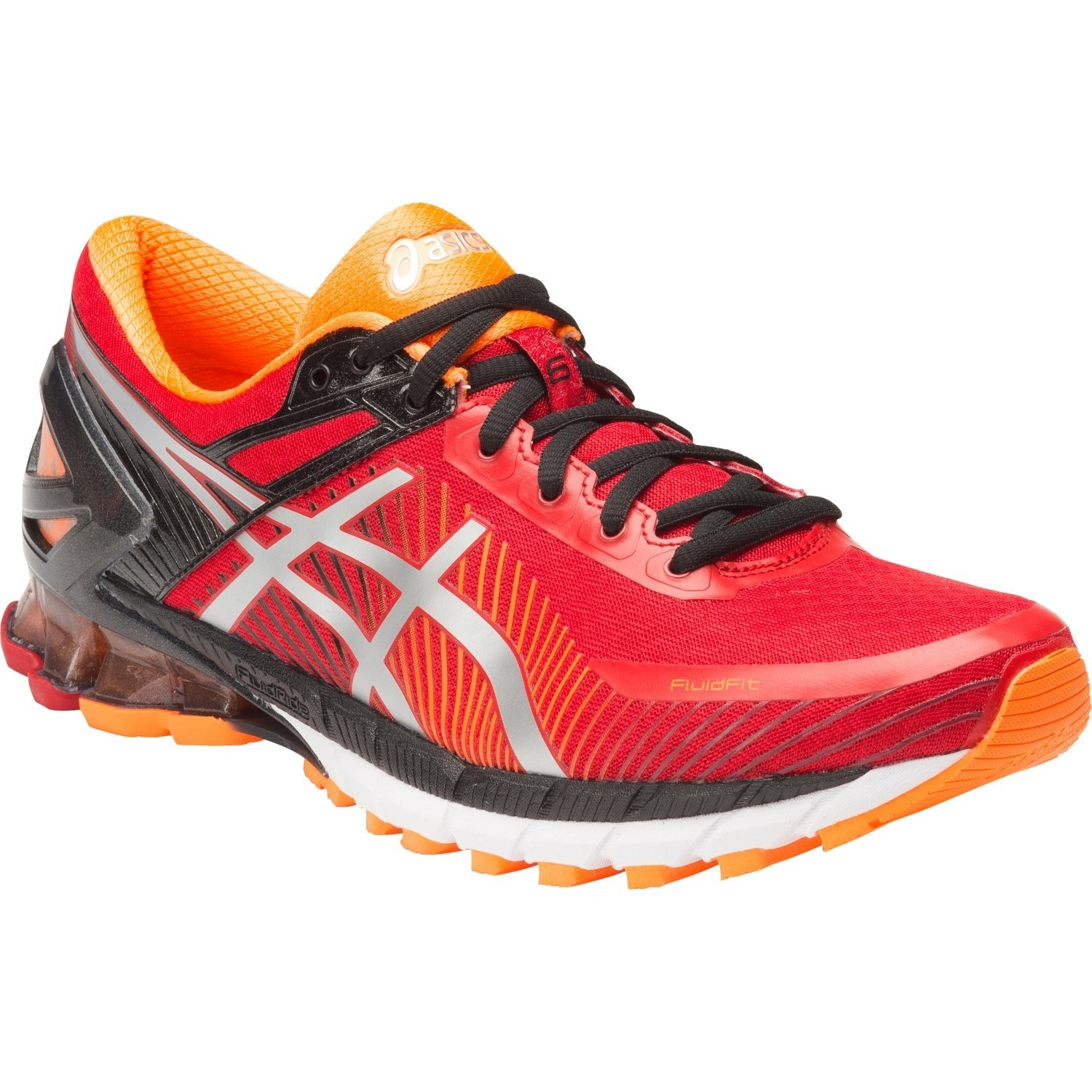 asics kinsei 6 mens running shoes true red silver hot. Black Bedroom Furniture Sets. Home Design Ideas