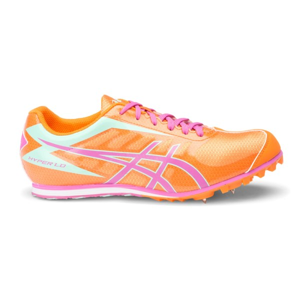Asics Hyper LD 5 - Womens Track Running Spikes - Mango/Rose/Mint