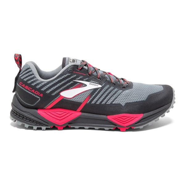 Brooks Cascadia 13 - Womens Trail Running Shoes - Grey/Pink