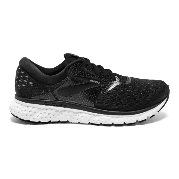 Brooks Glycerin 16 - Womens Running Shoes - Black/White