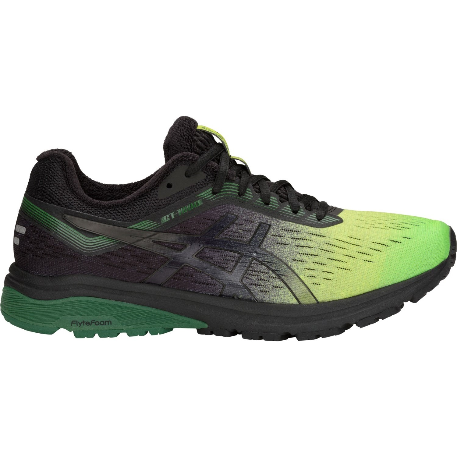 af621857c439a Asics GT-1000 7 Solar Shower - Mens Running Shoes - Neon Lime Black ...
