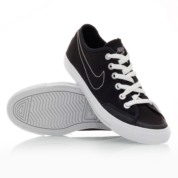 nike go canvas 001 mens casual shoes black white