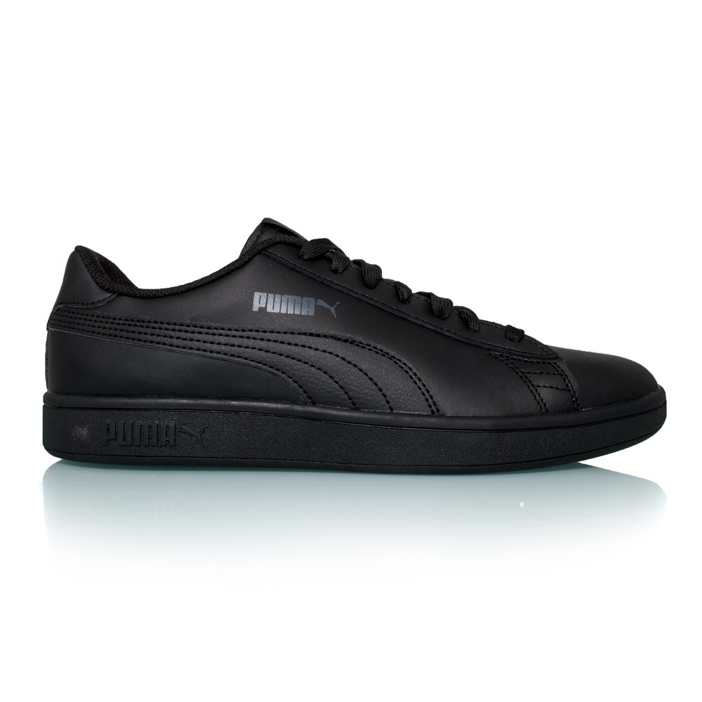 puma smash v2 leather mens casual shoes black online