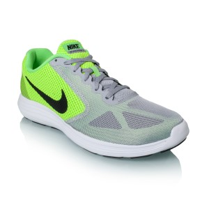 Nike Revolution 3 - Mens Running Shoes - Voltage Green/Black/Wolf Grey/ ...