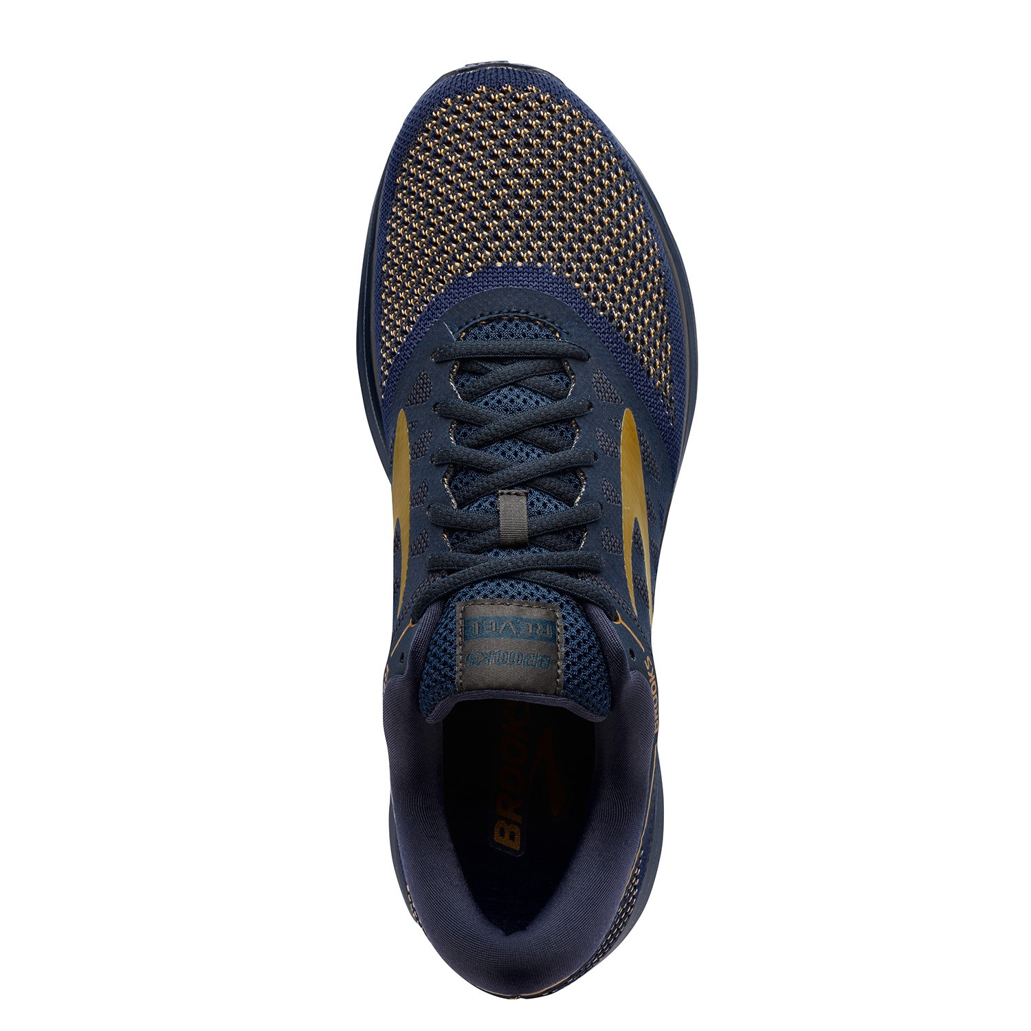 6f61d60bde367 Brooks Revel - Mens Running Shoes - Navy Gold Black