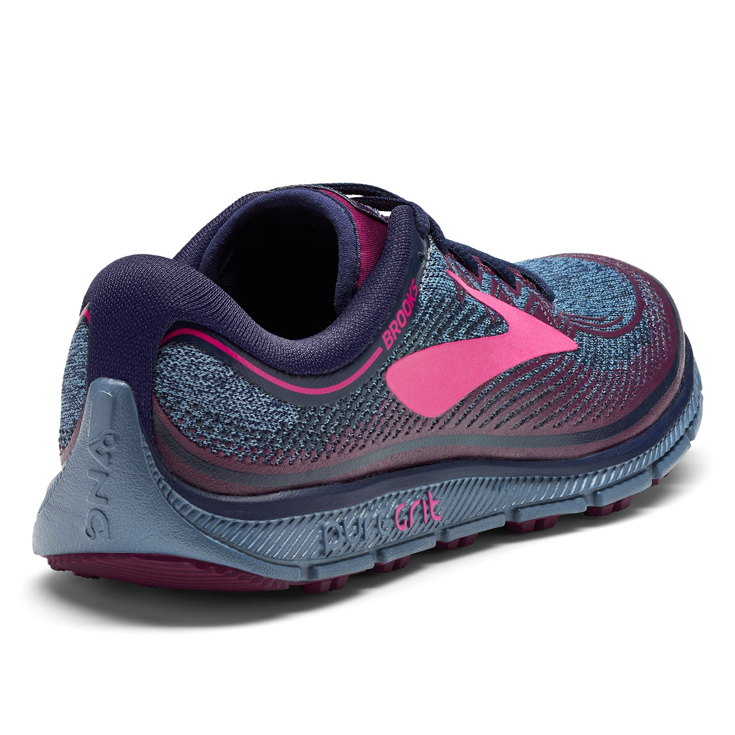 753c6deb8eb Brooks Pure Grit 6 - Womens Trail Running Shoes - Navy Plum Pink ...