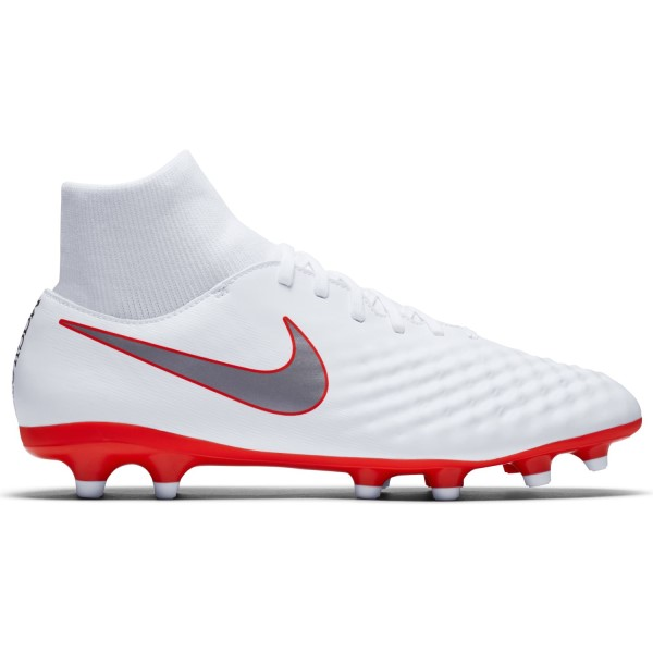 Nike Magista Obra II Academy DF FG - Mens Football Boots - White/Metallic/Cool Grey/Light Crimson