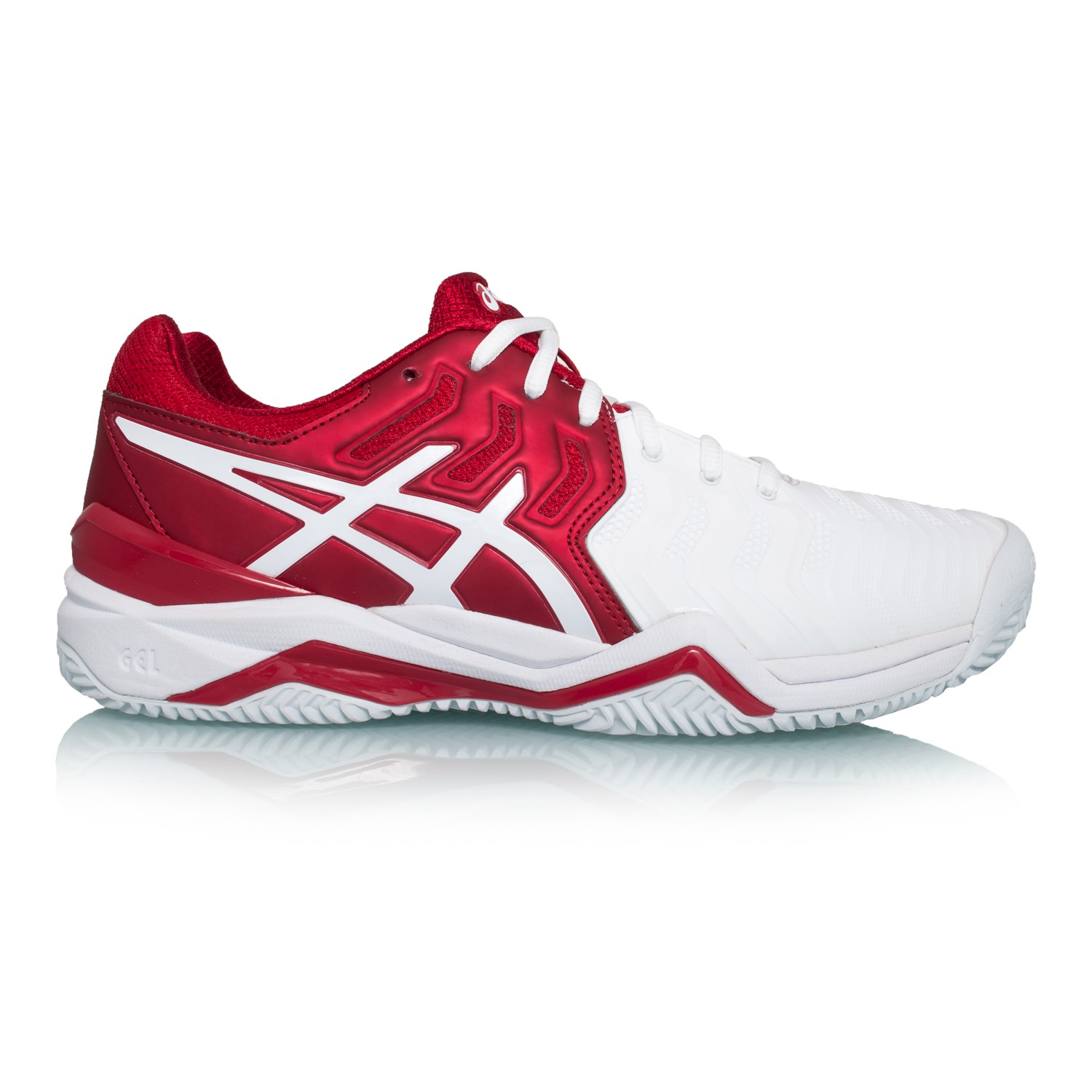 0c30cd8c94971 Asics Gel Resolution 7 Clay Novak Djokovic - Mens Tennis Shoes - Red White