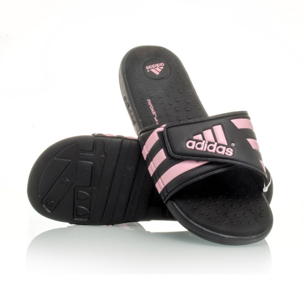 Adidas Adissage Fitfoam - Womens Slides - Black Pink  2531bd5c6