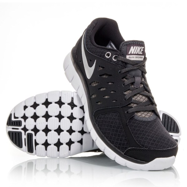 Nike Flex 2013 RN - Mens Running Shoes - Black White  c93ea4caeeb5
