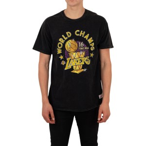 Mitchell & Ness World Champs Los Angeles Lakers Mens Basketball T-Shirt