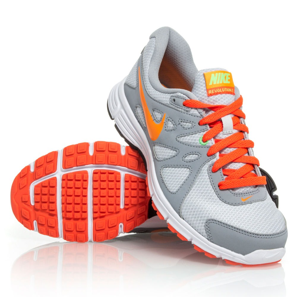 f179bf61d0560 ... coupon code for nike revolution 2 msl womens running shoes grey orange  2e093 fba9a