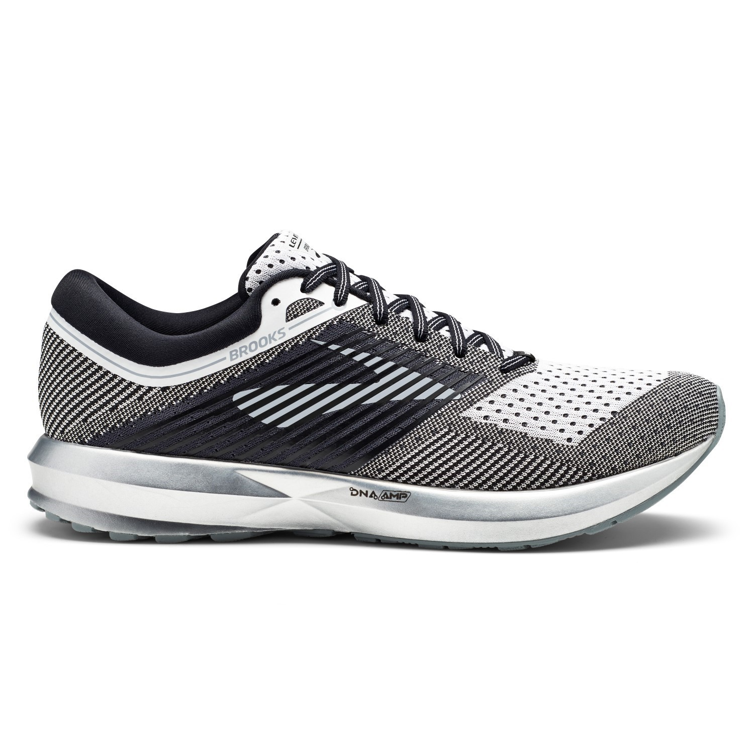 Brooks Levitate - Mens Running Shoes - White Black Grey  98c8904e9