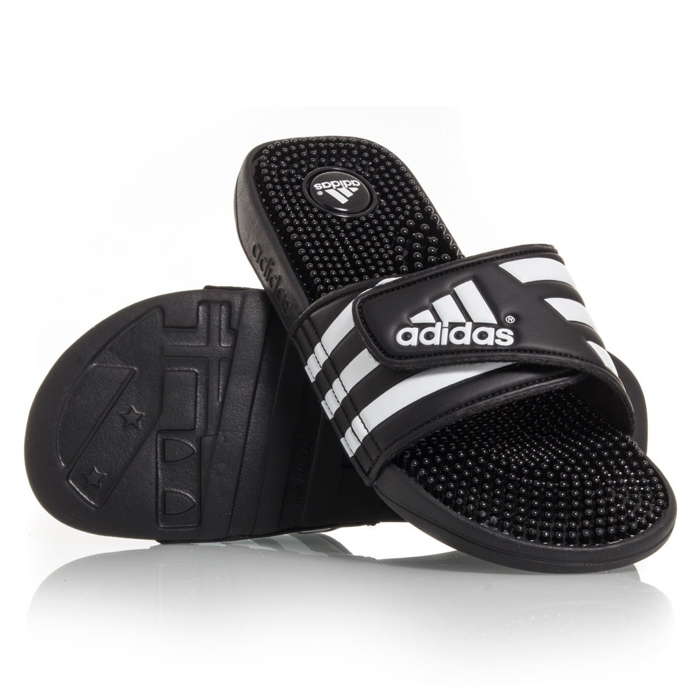 217809d2db380 Adidas Adissage - Mens Massage Slides - Black White