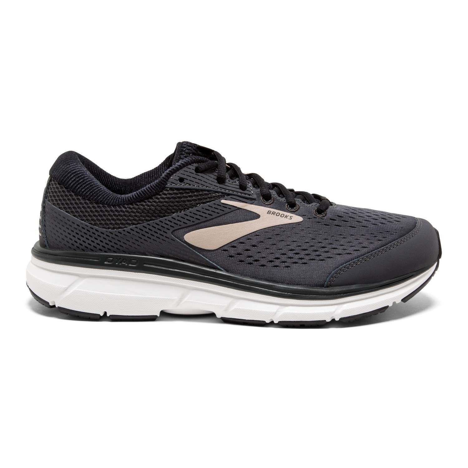 Brooks Dyad 10 - Mens Running Shoes - Grey Black Tan  9391780ce