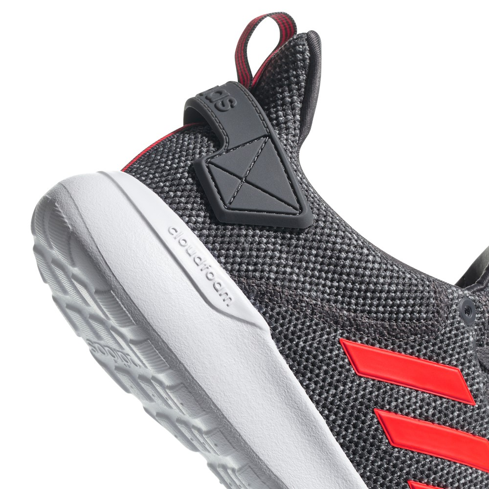 official photos 6a2c7 beb80 Adidas Cloudfoam Lite Racer BYD - Mens Casual Shoes - Grey FiveSolar Red