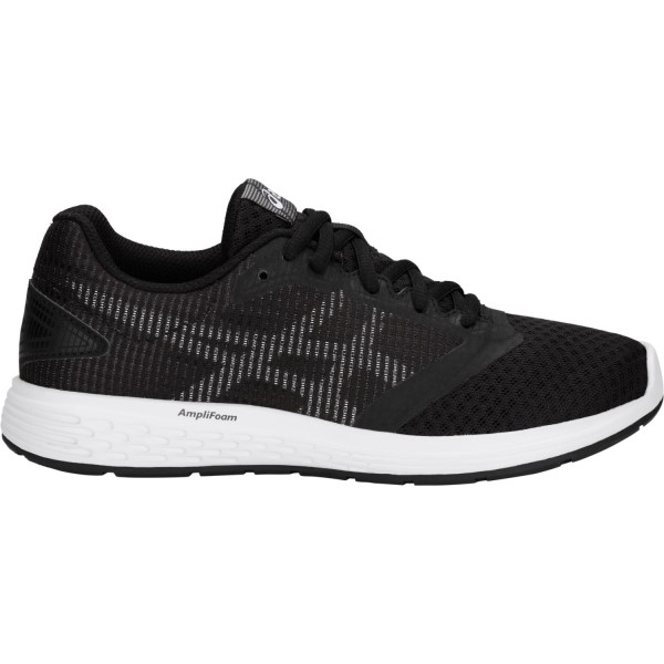 Asics Patriot 10 GS - Kids Running Shoes - Black/White