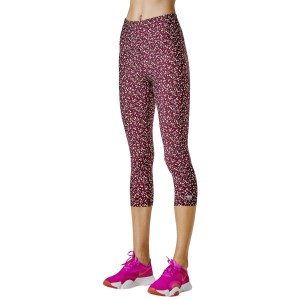 Running Bare Fight Club Ab-Waisted Womens 3/4 Training Tights