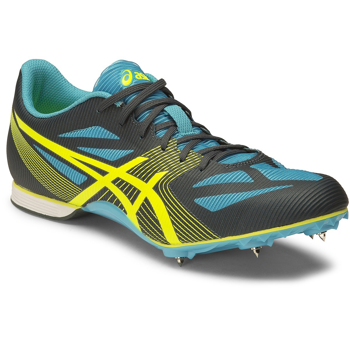 Asics Hyper MD 6 - Mens Middle Distance Track Spikes - Dark Slate Flash  Yellow 2c071cc4d