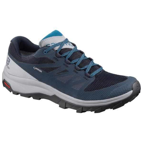 Salomon Outline GTX - Mens Trail Hiking Shoes - Navy Blazer/Quarry/Lyons Blue