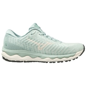 Mizuno Wave Sky Waveknit 3 - Womens Running Shoes - Sprout Green/Snow White