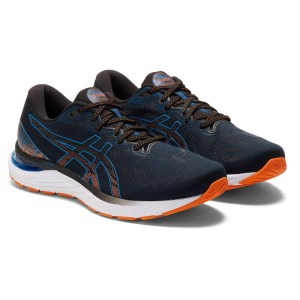 Asics Gel Cumulus 23 - Mens Running Shoes - Black/Reborn Blue