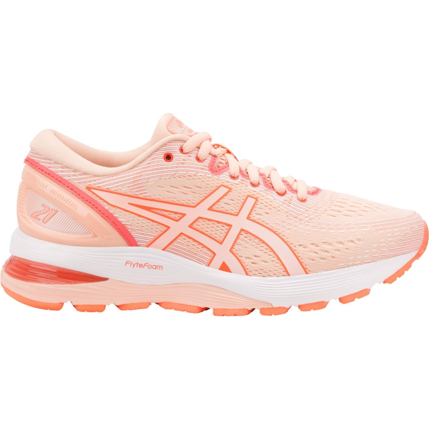 new style ec30c eafdf Asics Gel Nimbus 21 - Womens Running Shoes - Baked Pink White