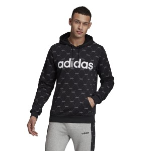Adidas Essentials Linear Graphic Mens Hoodie